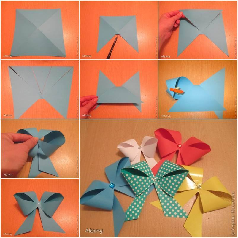 Origami Bow On Pinterest Origami Tutorial Origami Instructions And Earth Day 2016 2016