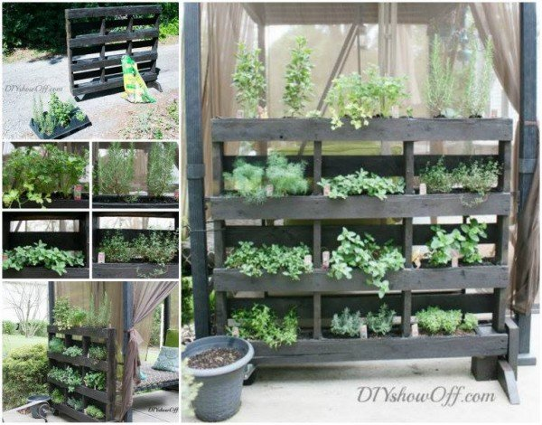 How to DIY Free Standing Pallet hern planter