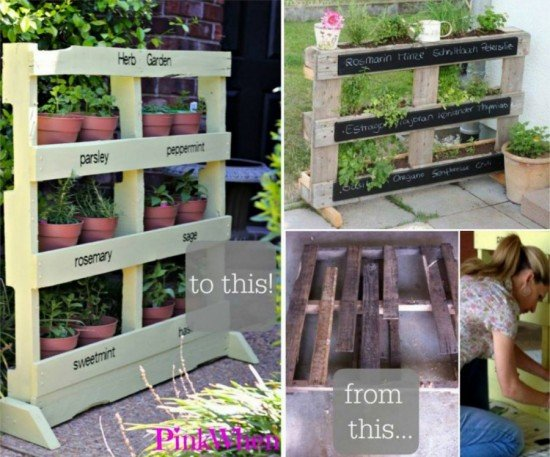 How to DIY Vertical Pallet herb planter