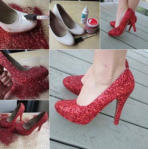 Can You Spray Glitter Shoes Red