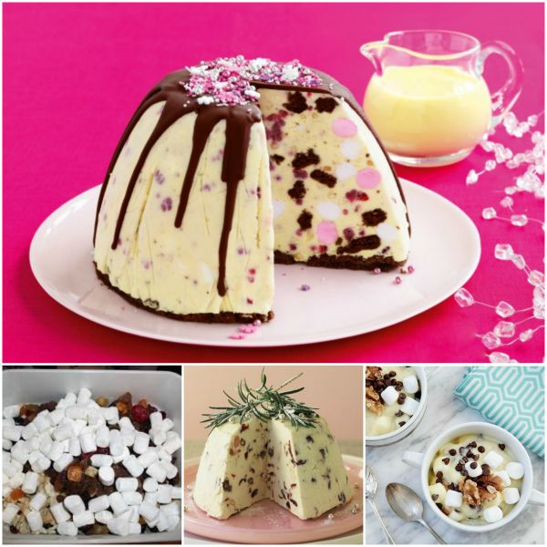 Rocky Road Ice Cream Pudding