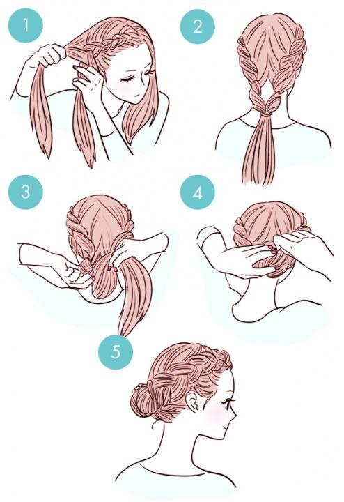 Simple tutorials to style hair fringe13