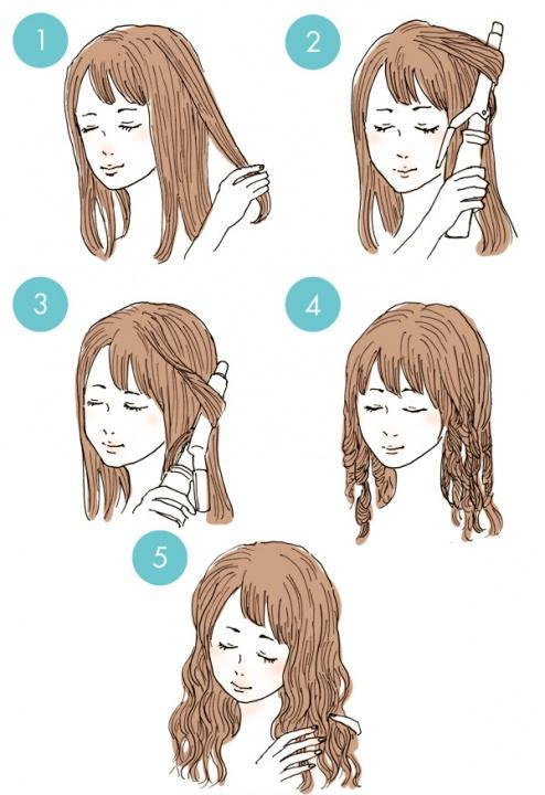 Simple tutorials to style hair fringe14