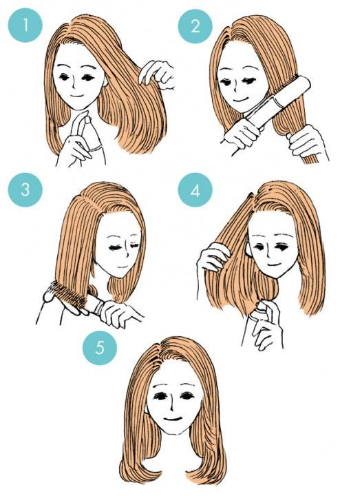 Simple tutorials to style hair fringe17