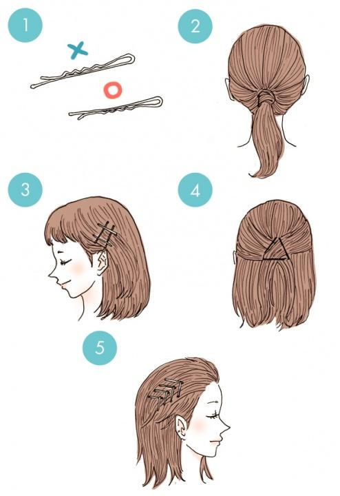 Simple tutorials to style hair fringe18