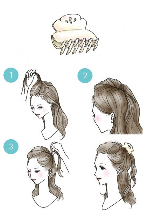 Simple tutorials to style hair fringe2