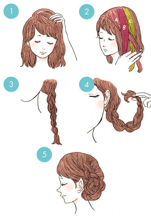 Simple tutorials to style hair fringe21