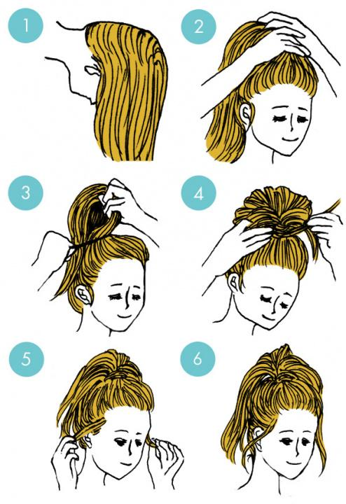 Simple tutorials to style hair fringe24