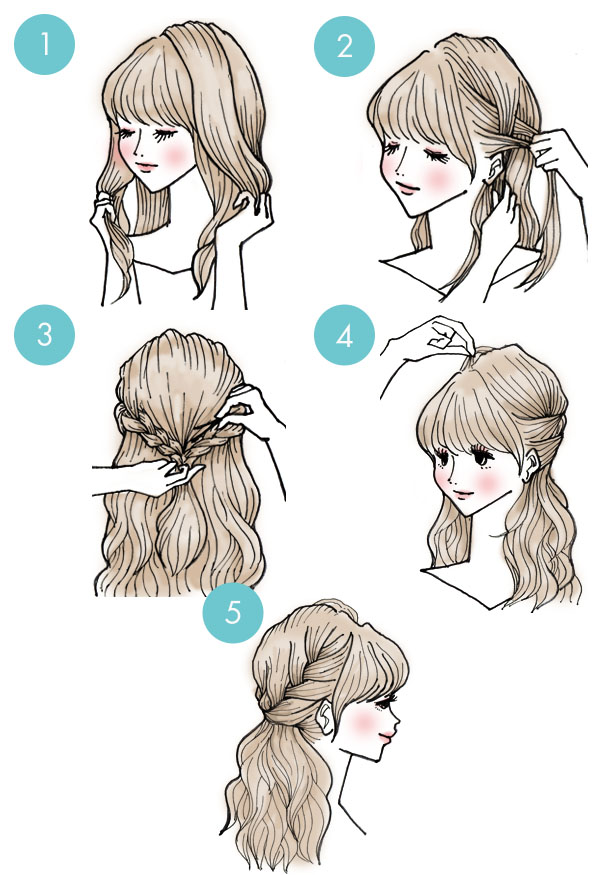 Simple tutorials to style hair fringe3