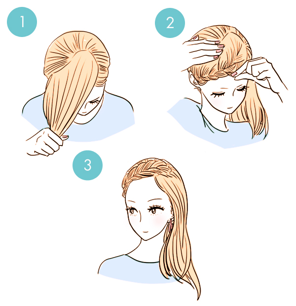 Simple tutorials to style hair fringe4