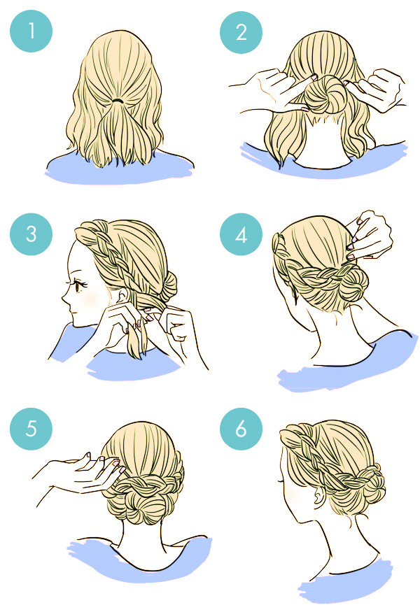 Simple tutorials to style hair fringe5