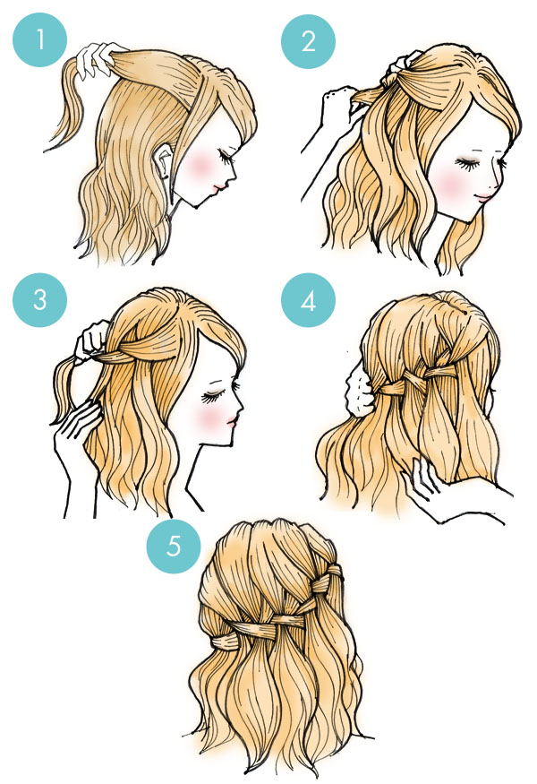 Simple tutorials to style hair fringe6