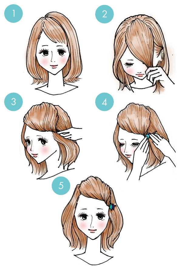 Simple tutorials to style hair fringe8