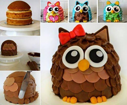 DIY Adorable Owl Cake Tutorial