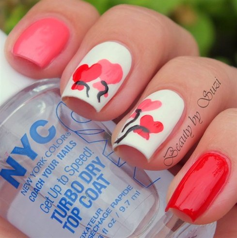 Valentine's Day Nail Art DIY Ideas that You'll Love0a