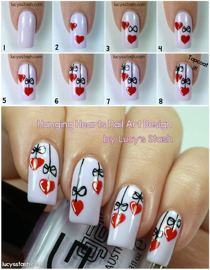 Valentine's Day Nail Art DIY Ideas that You'll Love13