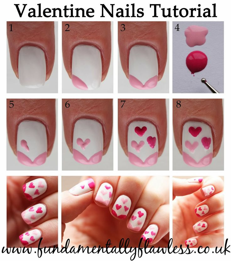 Tutorial Valentine S Day Nail Art Diy Ideas That You Ll Love19