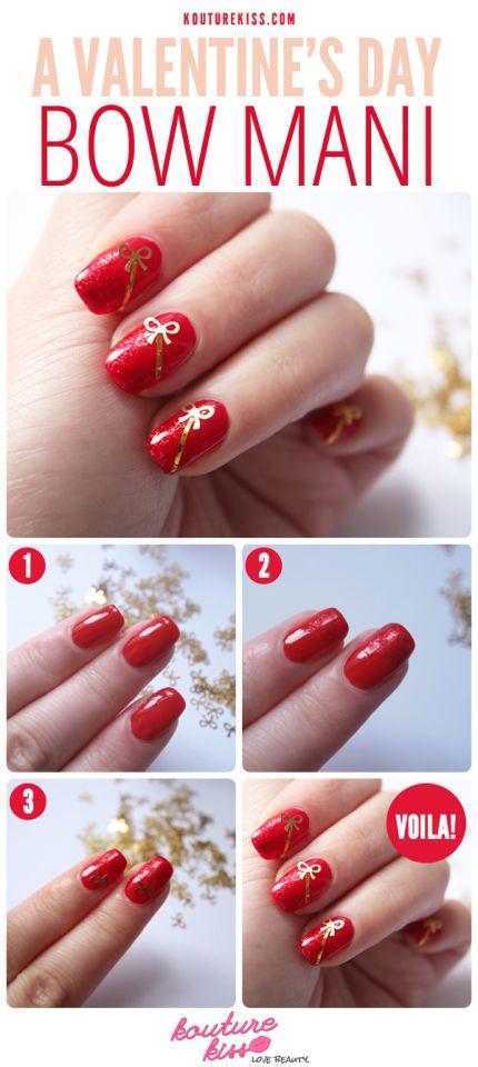 Valentine's Day Nail Art DIY Ideas that You'll Love28