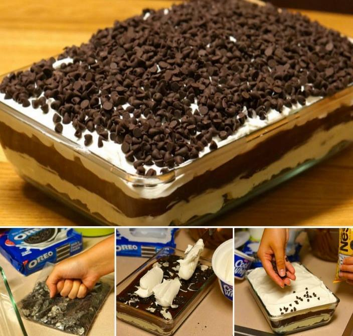 You'll love this quick and easy NO BAKE Chocolate Lasagna