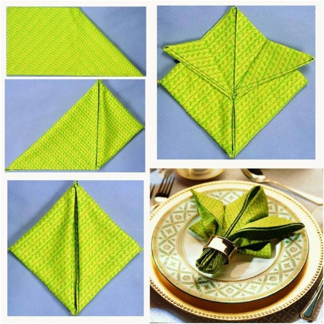 20 Best DIY Napkin Folding Tutorials for Christmas - Fleur De Lis Napkin Folding DIY Tutorial