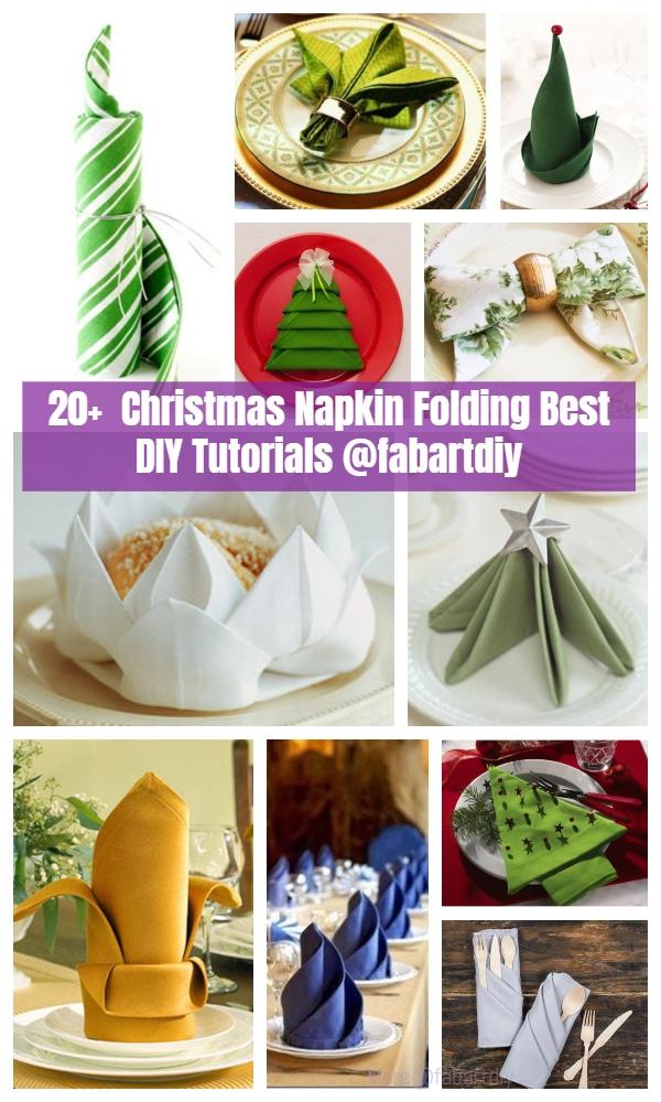 Napkin Folding Christmas.20 Best Diy Napkin Folding Tutorials For Christmas