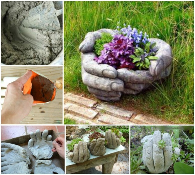 Bon DIY Hand Cupped Stone Garden Planters Instructions And Picture Tutorial