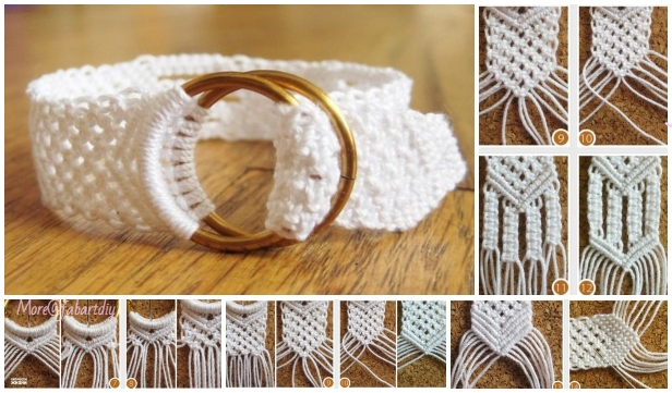 How to DIY Two Ring Closure Macrame Belt Tutorial
