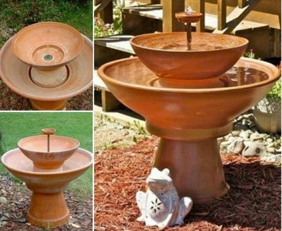 20+ Terra Cotta Clay Pot DIY Project for Your Garden - Terracotta Pot Fountain DIY Tutorial