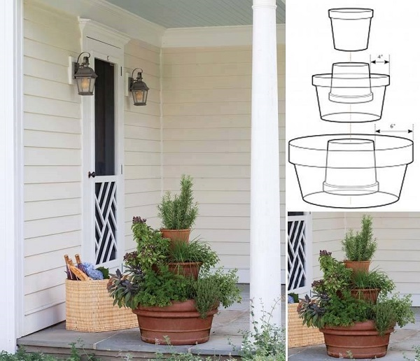 20+ Terra Cotta Clay Pot DIY Project for Your Garden - Clay Pot Tower