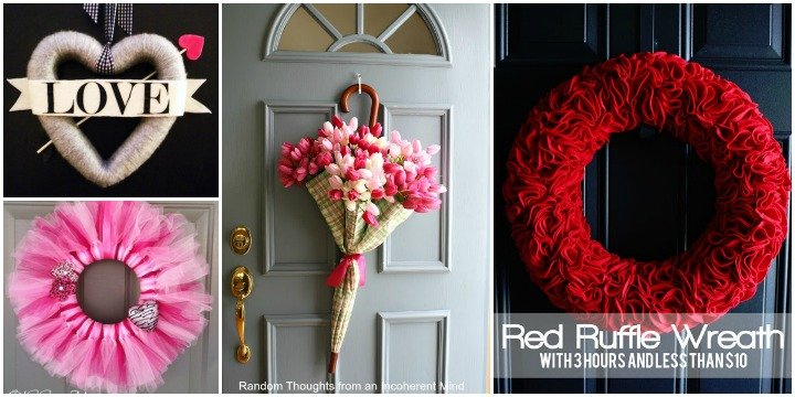 40 Fabulous DIY Valentine's Day Wreaths