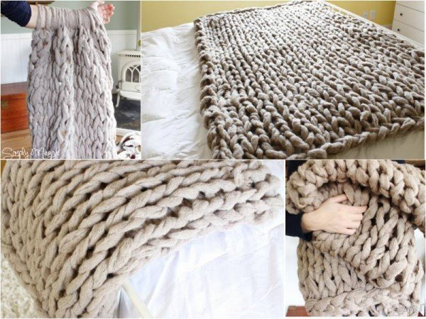 How To Diy Arm Knit Blanket Free Pattern Video Fab Art Diy