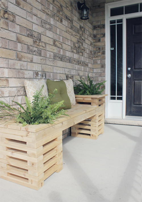 How To Diy Cedar Bench With Planter Frames