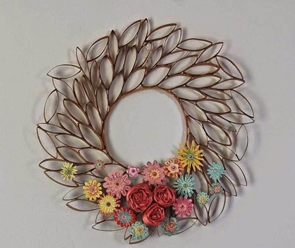 DIY 3D Paper Roll Flower Art2-fabartdiy