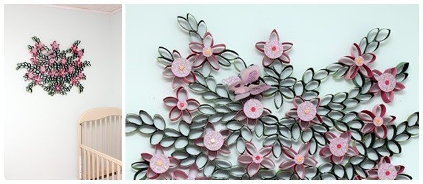 Toilet paper roll flower art flowers healthy diy 3d paper roll flower wall art mightylinksfo