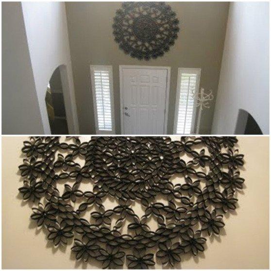 DIY 3D Paper Roll Flower Art7-fabartdiy