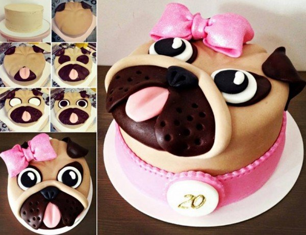 DIY Adorable Pug Cake
