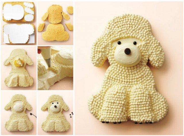 DIY Adorable Puppy Cake