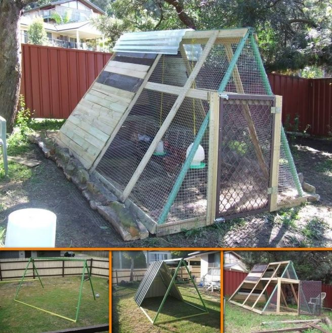 DIY Backyard Chicken Coop11 - DIY Swing Set Chicken Coop Tutorial