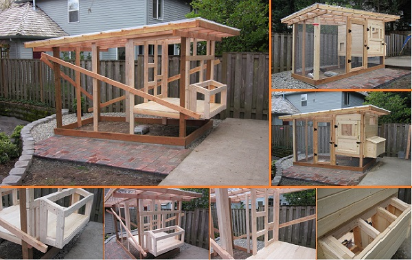 10 diy backyard chicken coop plans and tutorial for How to build a chicken hutch