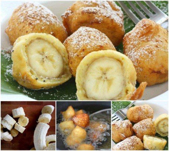 DIY Banana Fritter Snack Bites