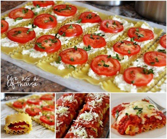 DIY Caprese Lasagna Roll Ups Recipe