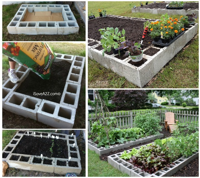 DIY Cinder Block Raised Garden Bed (Video)