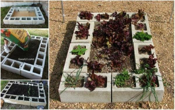 DIY Cinder Block Raised Garden Bed (Video)