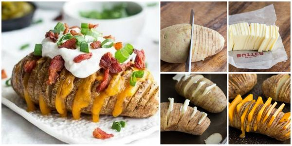 DIY Delicious Loaded Hasselback Potatoes