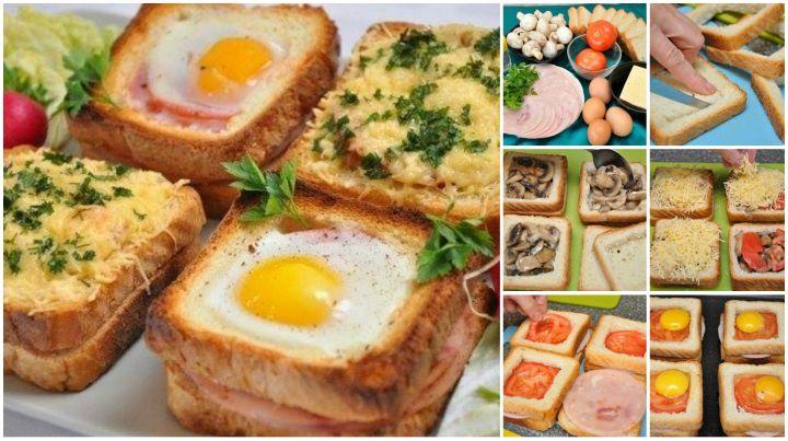 DIY Delicious sandwich as breakfast