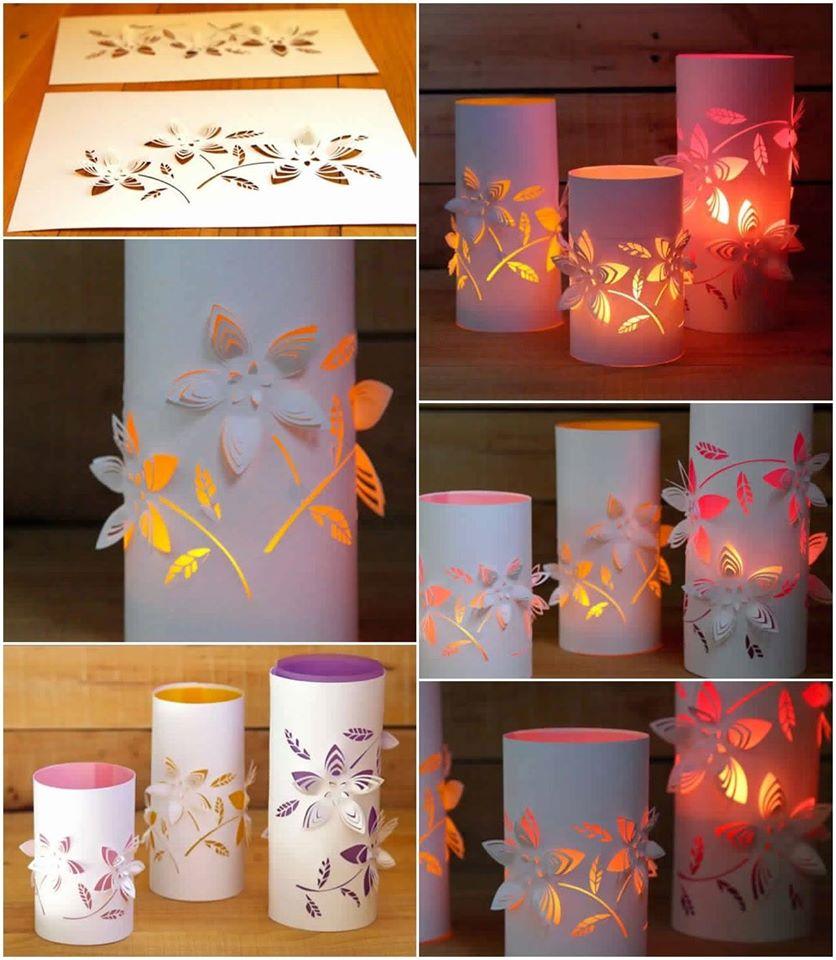 DIY Dimensional Paper Lanterns