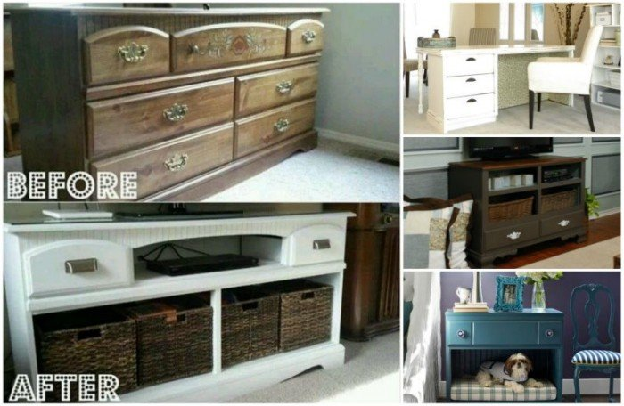 DIY Ideas and Tutorials to Transform Old Dresser