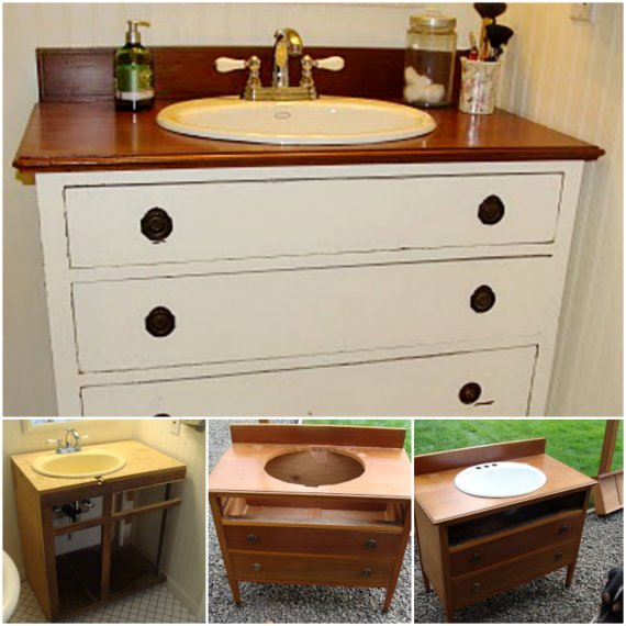 DIY Ideas and Tutorials to Transform Old Dresser1