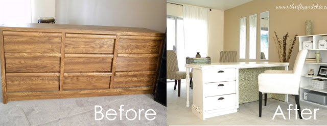 20 fabulous diy ideas and tutorials to transform an old dresser diy ideas and tutorials to transform old dresser7a dresser turned into a desk solutioingenieria Images