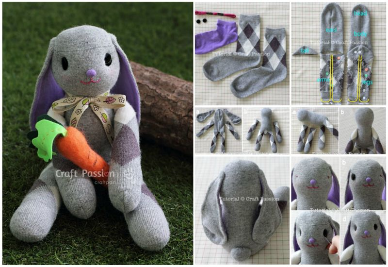 DIY Long Ear Sock Bunny Tutorial
